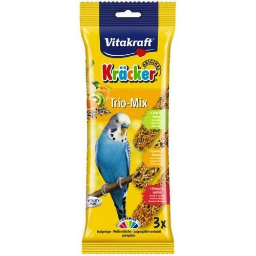 Vitakraft Budgie Kracker Kiwi Orange Banana (3Pk)